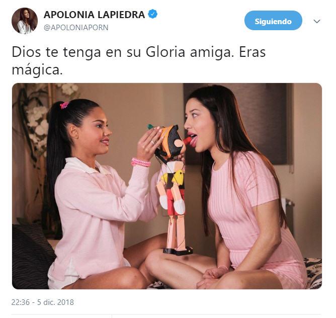 Apolonia Lapiedra Angie White tweet