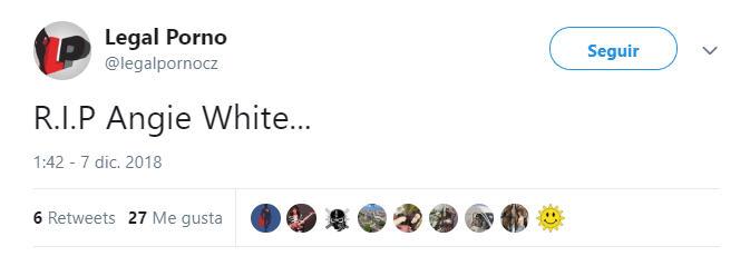 Legal Porno Angie White tweet