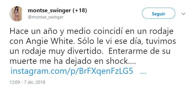 Montse Swinger Angie White tweet