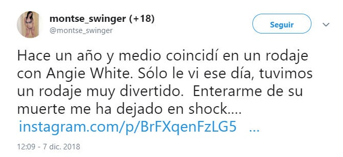 Montse Swinger Angie White tweet