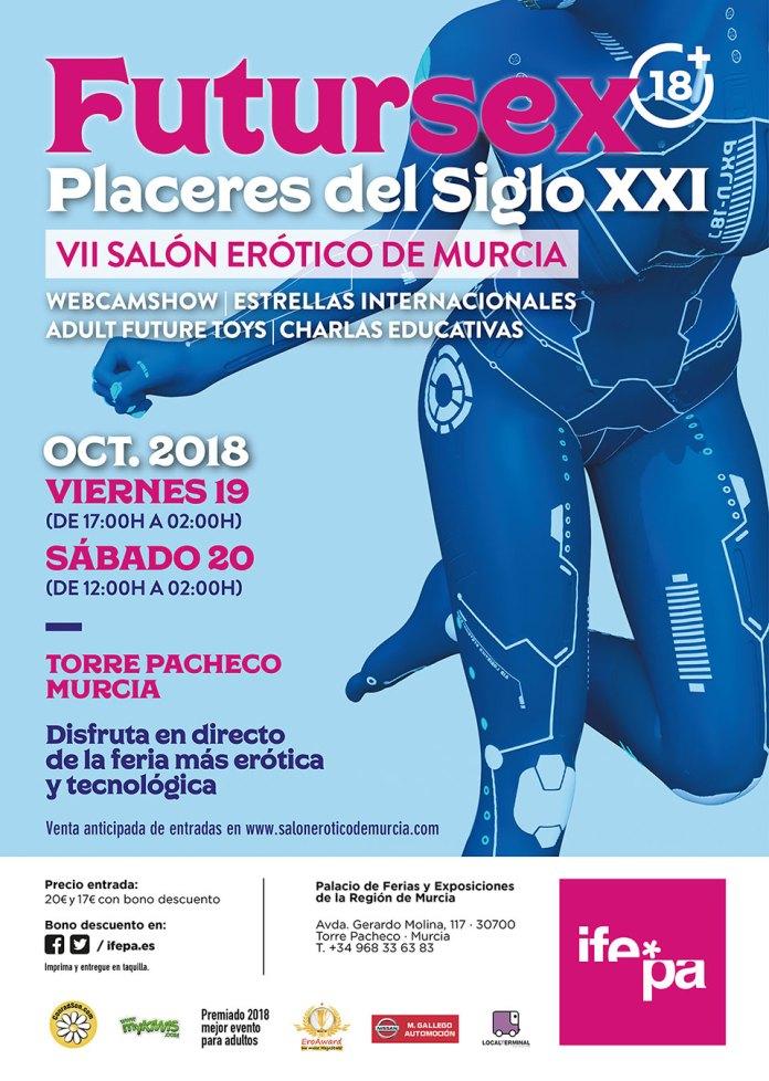 Poster Salon Erotico Murcia 2018 Futursex