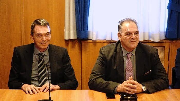 Ο νέος πρόεδρος του ΟΠΕΚΕΠΕ , Γρηγόρης Βάρρας και ο νέος αντιπρόεδρος Δημήτρης Μελάς