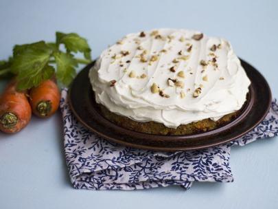 Glutenfri morotskaka med mascarponegrädde