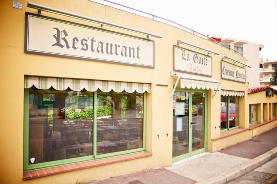 photo de la façade actuelle du restaurant niçois la gaite nallino