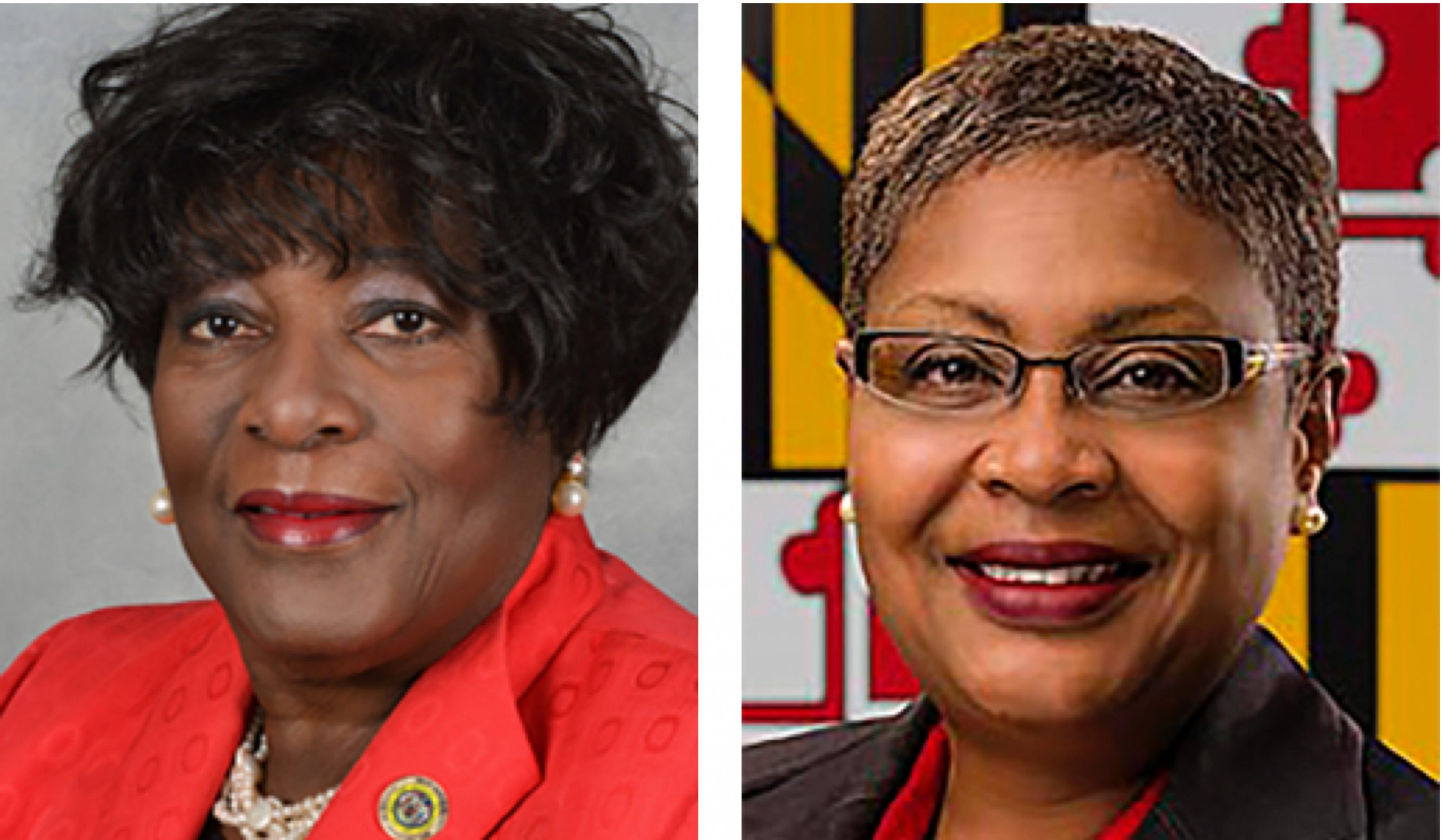 Del. Edith Patterson (D-Charles), left, and Del. Debra Davis (D-Charles) (Maryland General Assembly photos)
