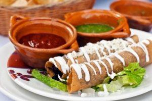flauta, gastronomia mexicana