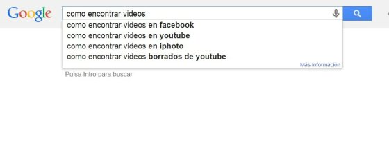 Palabras clave google instant