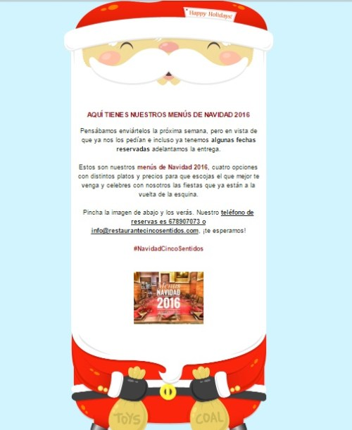 menús de navidad, cenas de navidad, cenas para navidad, comidas navideñas, menus navideños, menus para navidad, ofertas restaurantes, mailchimp