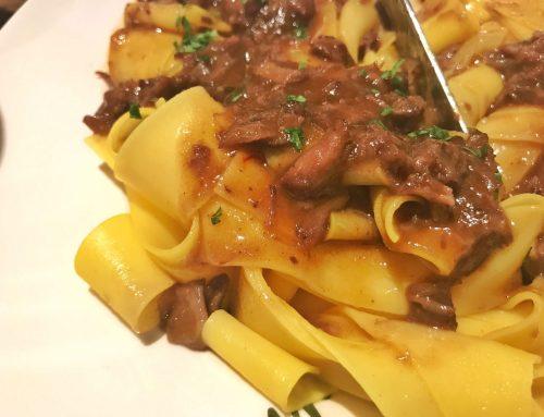 Pappardelle con osobuco, restaurante italiano en Madrid