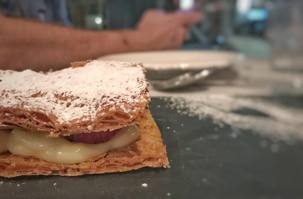 Milhojas en Condumios. Restaurantes en Madrid