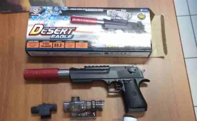 pistola giocattolo ritirata dal commercio