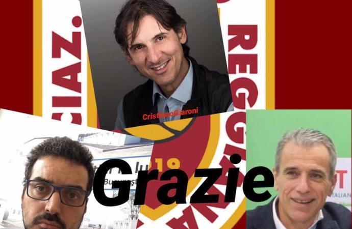 Giaroni, Reggiani e Bondavalli, grazie di aver creduto nel progetto