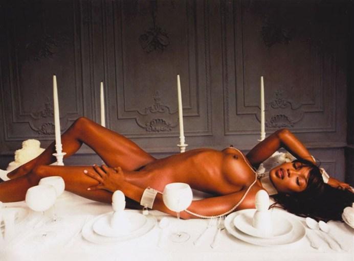 LaChapelle-Naomi-Campbell,-Bon-Appétit,-1999