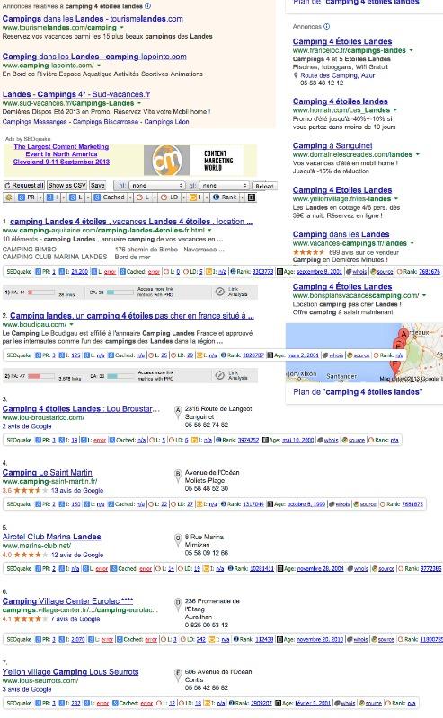 recherche Google camping 4 étoiles