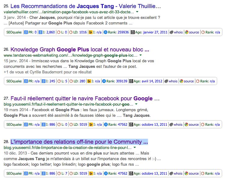 google plus jacques tang - Recherche Google