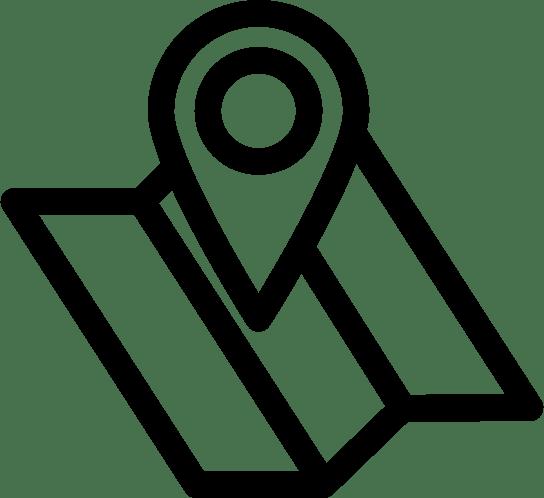 Icono de mapa con marcador