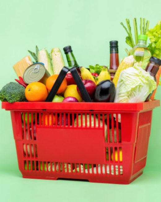 colorful-food-groceries-red-supermarket-plastic-basket_8087-2233