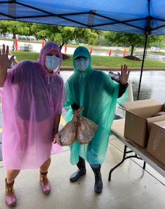 Intern Virginia represents LWDI rain or shine!