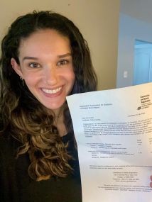 LWDI alum, Emily, passed the RD exam! Congrats to Emily Gerrets, RD