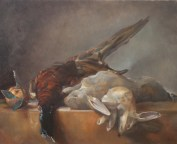 """""""After Chardin, Still Life With Game"""". Oil on canvas. 2014."""