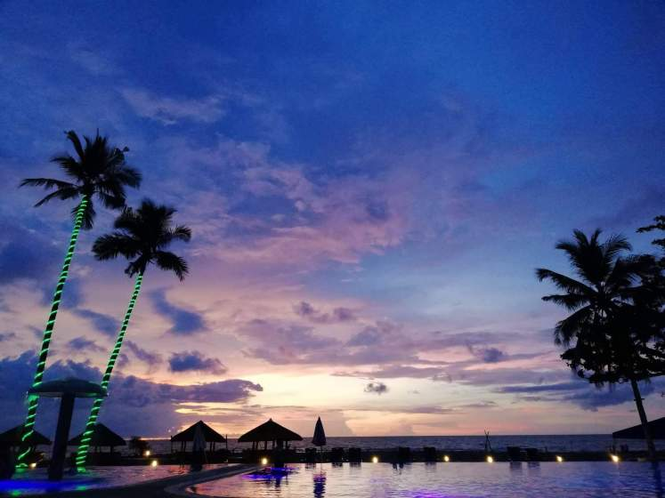 Lagoon Beach Resort dusk