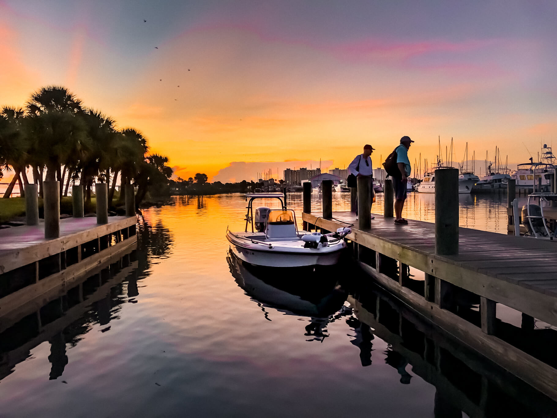 sunrise on the indian river lagoon