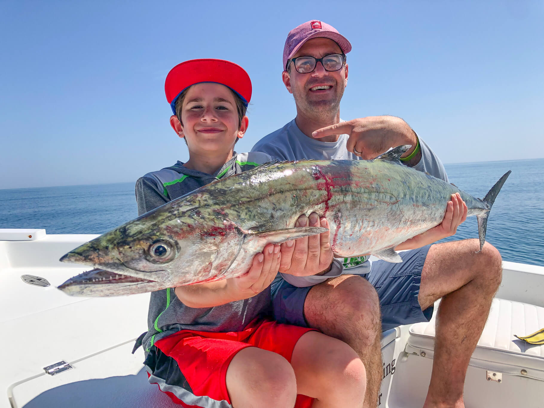 Father and Son with King Mackerel