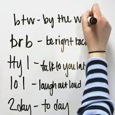 Texting and English