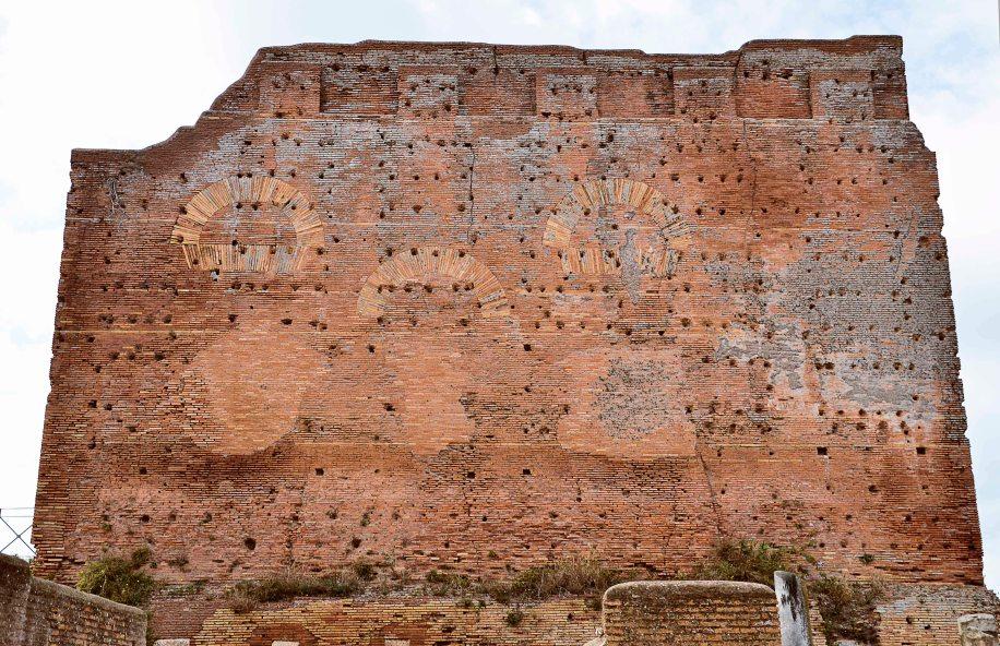 Great wall of Ostia Antica, Italy
