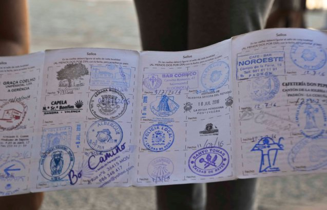 "And proud to show their stamped ""passport""..."