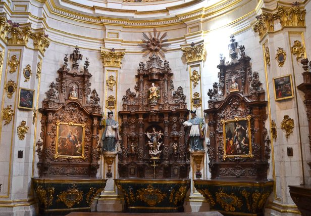 The Sacristy in Baroque style