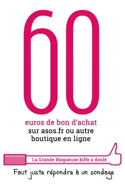 Sondage : gagnez 60 euros de bon d'achat sur ASOS