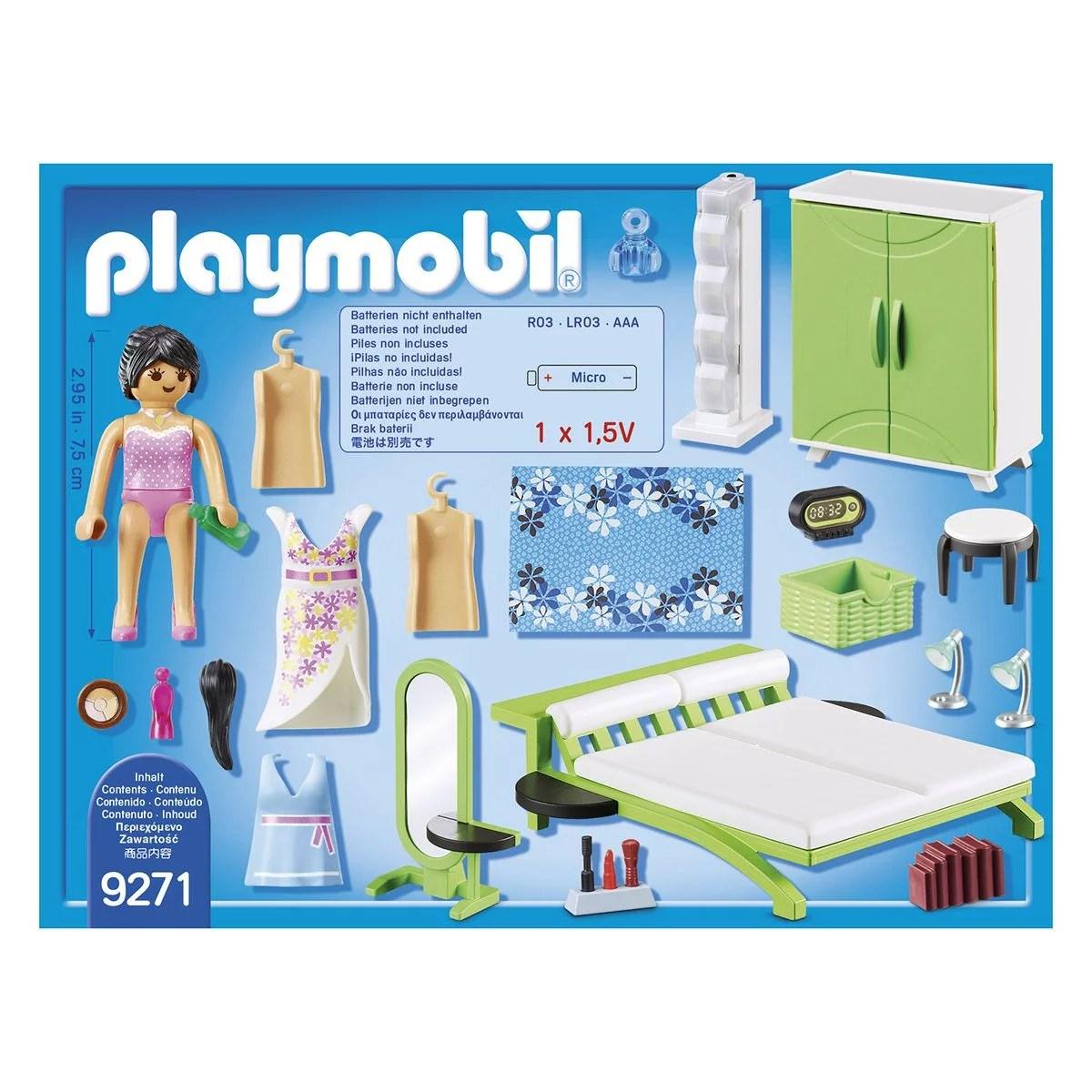 chambre avec espace maquillage playmobil city life