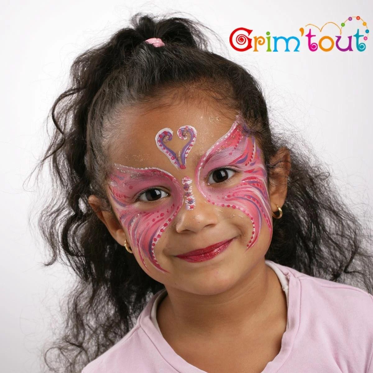 set de maquillage grim tout 4 couleurs fee papillon