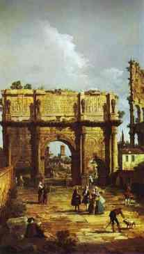 Roma, Arco de Constantino, (1742), Royal Collection, Windsor.