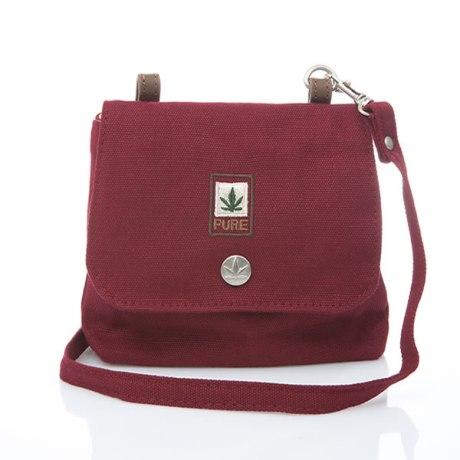 Petit sac bandoulière pure HF-0025 bordeaux