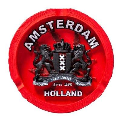 Cendrier Amsterdam xxx Polyrésine rouge
