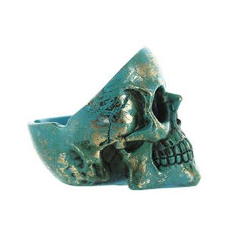 Cendrier skull polyrésine (bleu)
