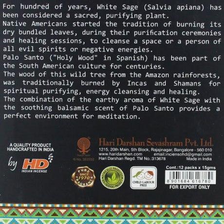 Encens Tribal Soul White Sage + Palo Santo