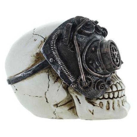 Figurine Tête de mort Cyborg