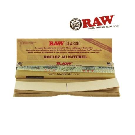 Papier à rouler RAW Connoisseur Slim + Tips non blanchi