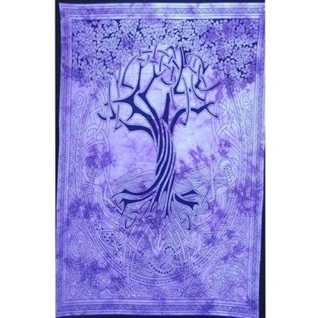 Tenture Celtique Arbre de Vie (Violet)