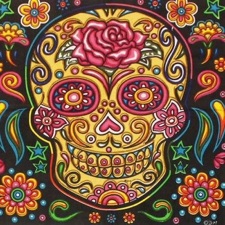 Carnival de Los Muertos. Dim: 140x220cm