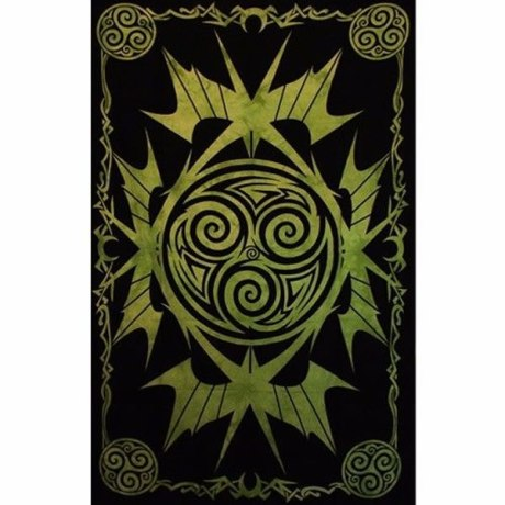 Tenture Celtique Triskell Vert