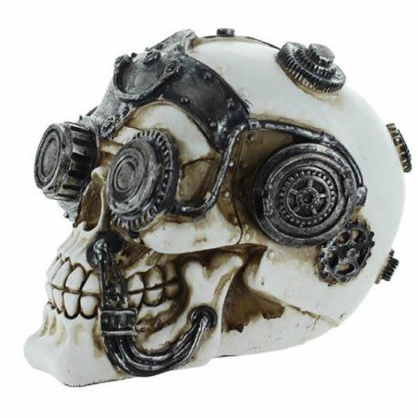 Figurine statuette Skull double lunettes