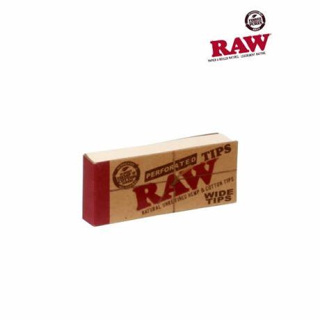 Les cartons Raw Wide perforés ! Filtres sont 100% naturels, fabriqués à partir de chanvre et de fibres de coton. Ils sont non blanchis ce qui explique leurs couleurs marron. Les dimensions d'un carton sont 5.8 cm x 2.5 cm.