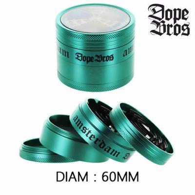 Grinder Dope Bros alu vert 60mm