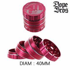 Grinder métal Dope Bros 40mm Rouge