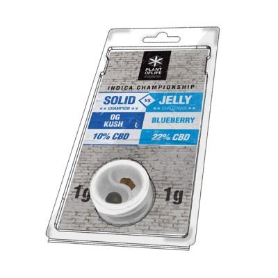 solide 10% OG Kush vs jelly 22% blueberry 1g + 1g