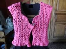 Tuto point en forme de coeur, au tricot